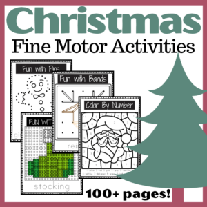 Fine Motor Christmas Activities for Preschool