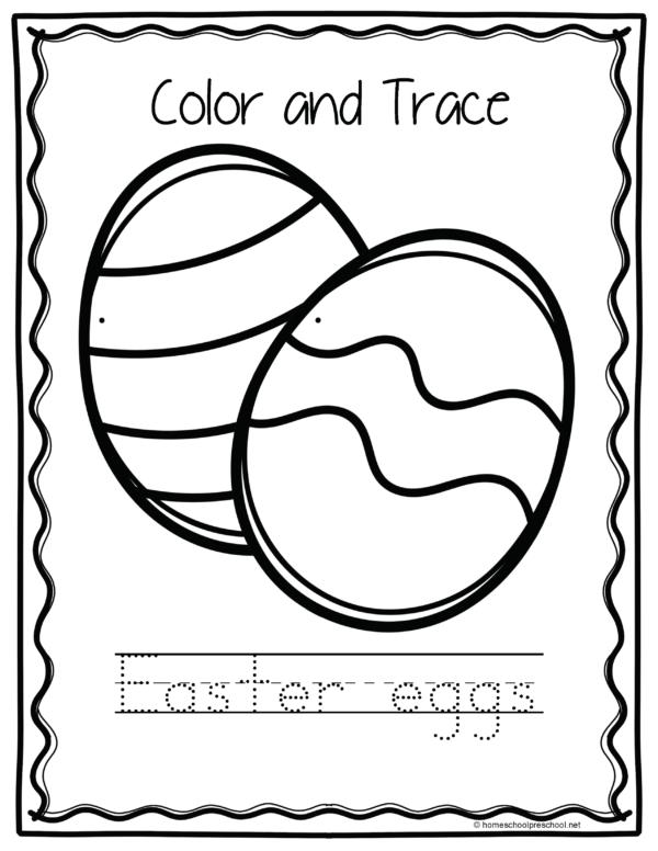 Easter Worksheets for Preschool