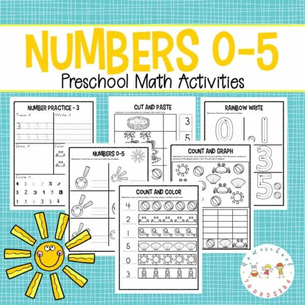 Preschool Number Worksheets 0-5