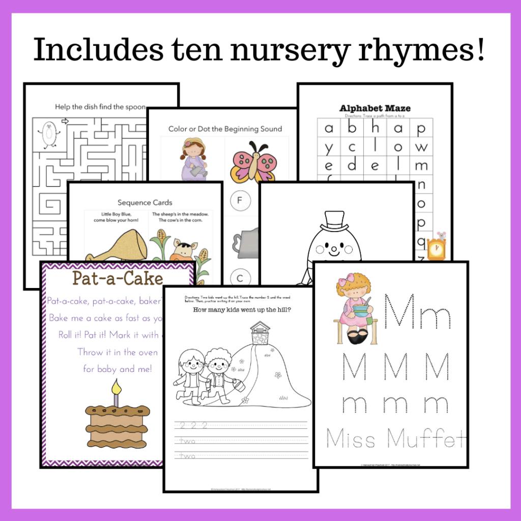 Printable Nursery Rhyme Activities