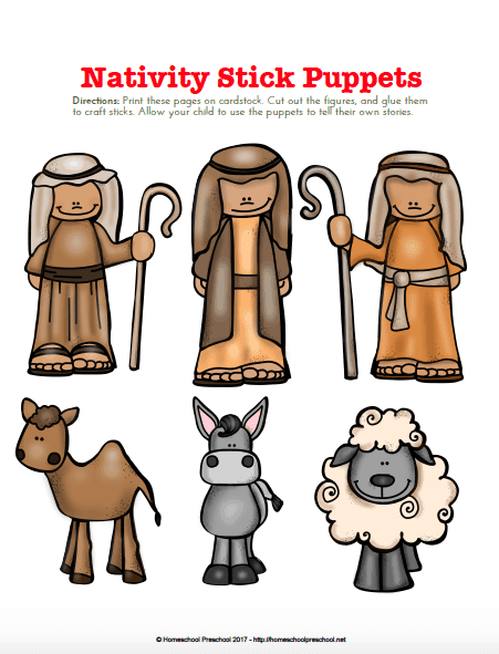 Nativity Themed Preschool Learning Pack