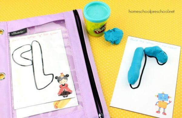 Play Dough Alphabet Mats Busy Bag