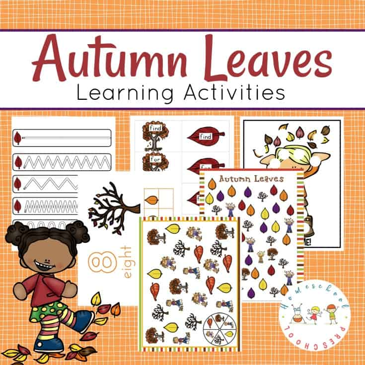 Preschool Leaf Theme Math and Literacy Fun