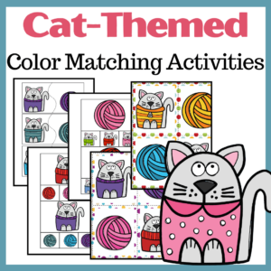 Cat Color Matching Activities