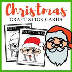 Christmas Popsicle Stick Cards