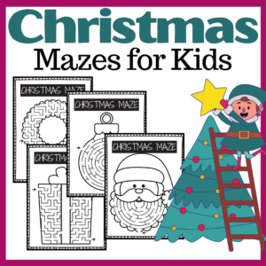 Christmas Mazes for Preschoolers