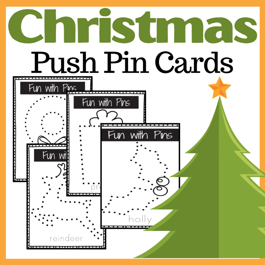 Christmas Push Pin Cards