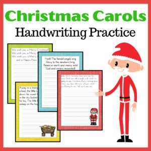 Christmas Carols Handwriting Practice