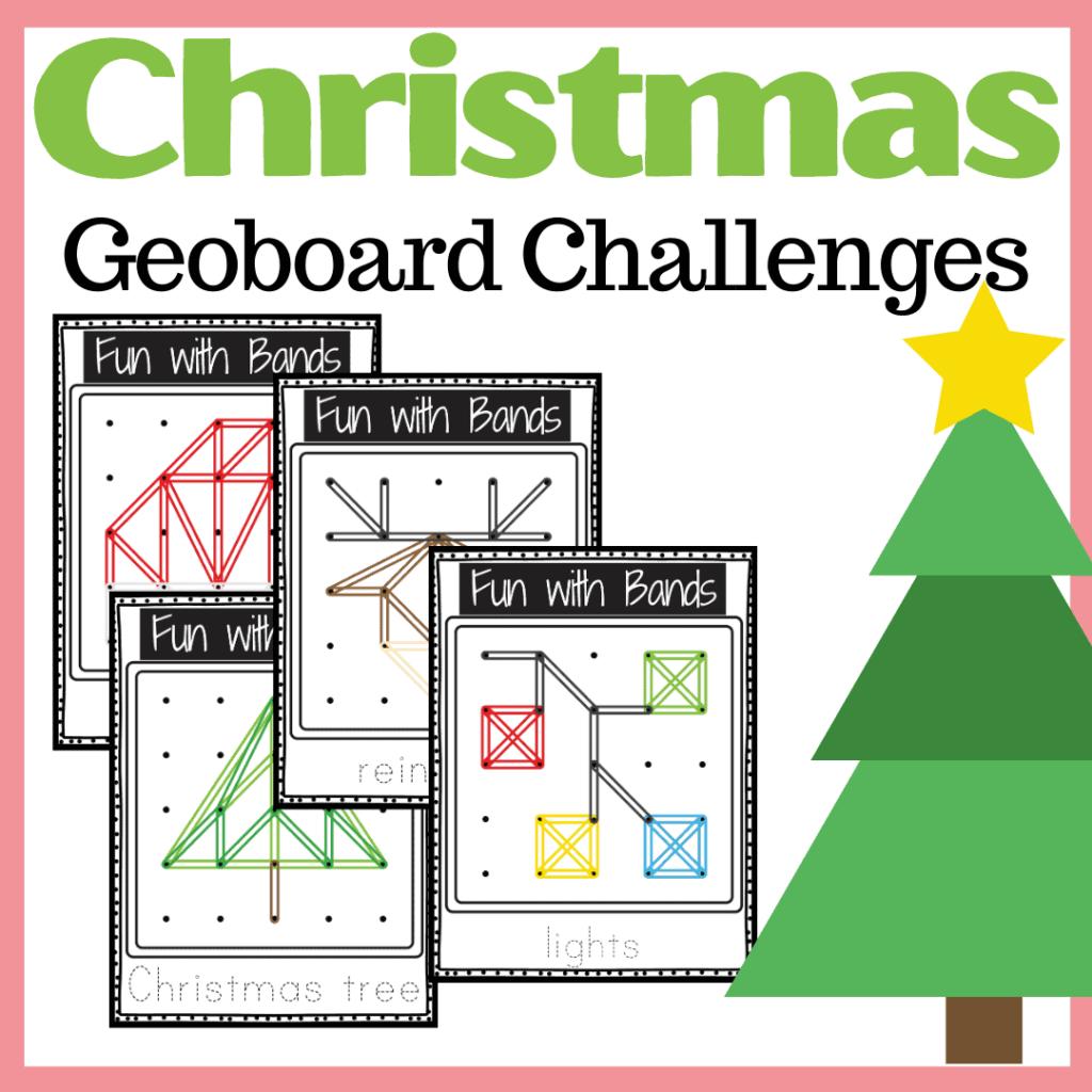 Christmas Geoboard Challenges