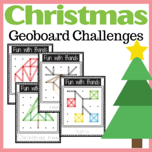Christmas Geoboard Challenges