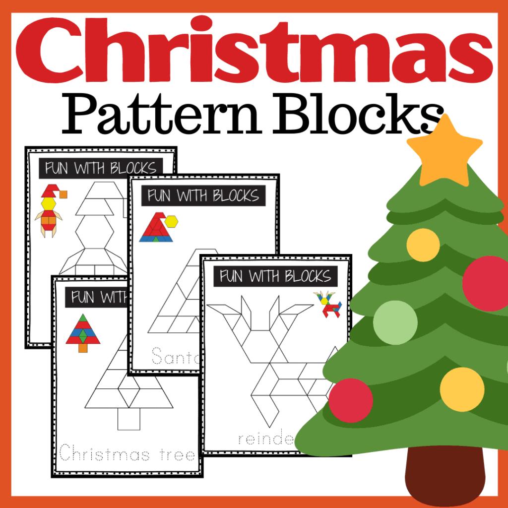 Christmas Pattern Block Printables