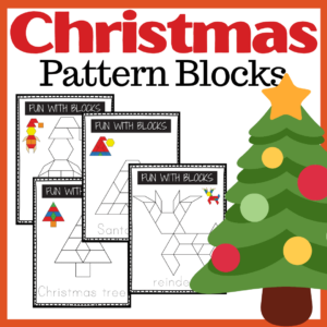 Christmas Pattern Block Printables