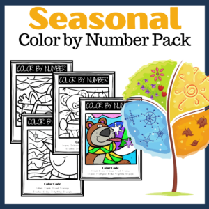 Four Seasons Color By Number Worksheets