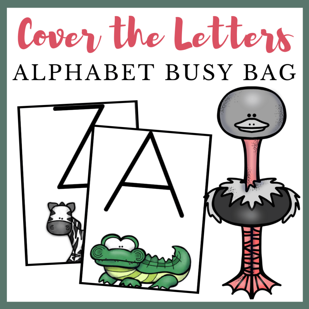 Cover the Letters: Fine Motor Alphabet Activities