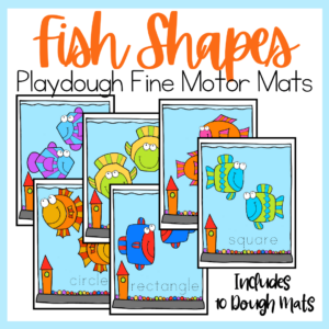 Fish Shapes Playdough Mats
