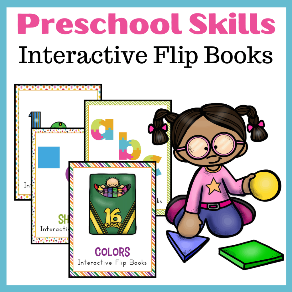Preschool Basic Skills Interactive Flip Books Bundle