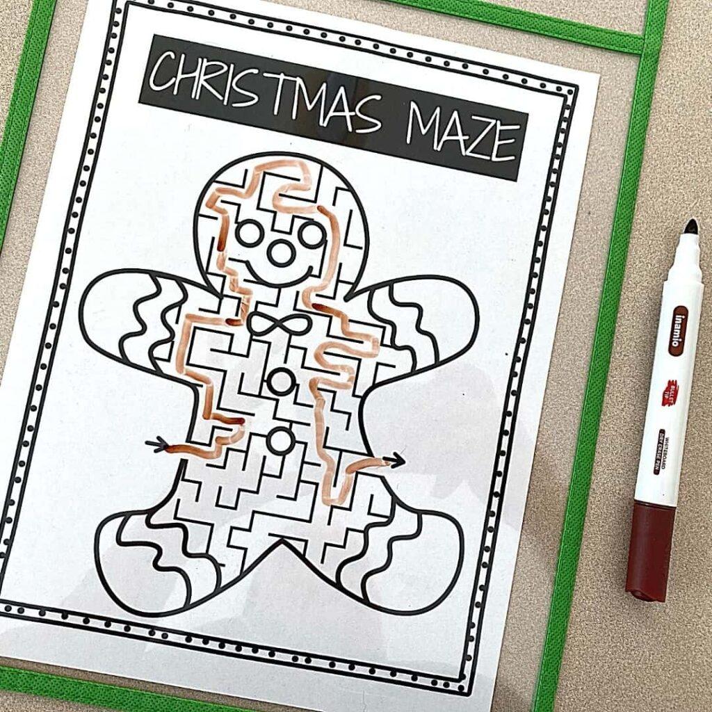 Christmas Mazes for Preschoolers