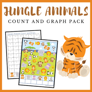 Jungle Animals Count and Graph