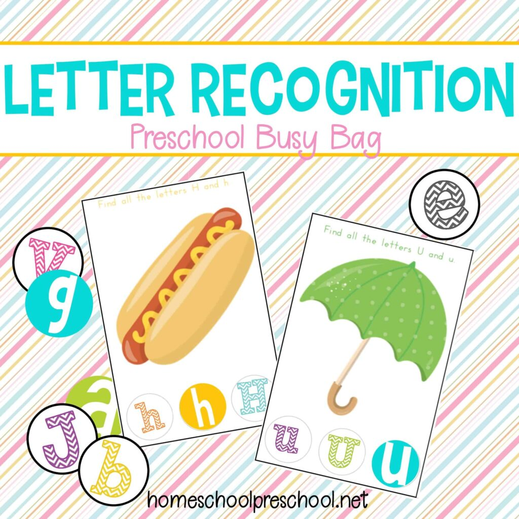 Letter Recognition Preschool Busy Bag