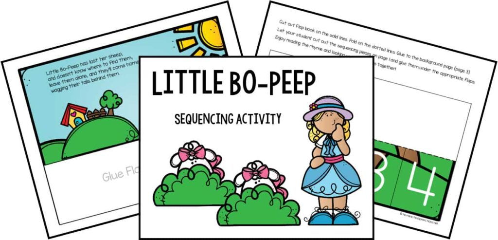 Little Bo Peep Sequencing