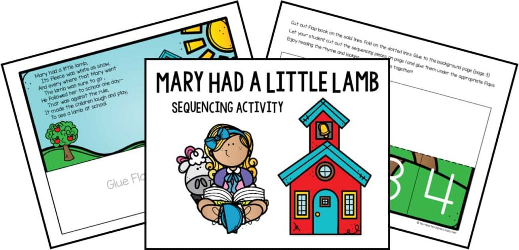 Mary Had a Little Lamb Sequencing