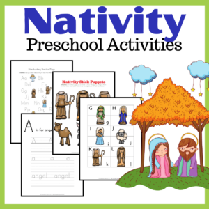 Nativity Themed Preschool Learning Pack