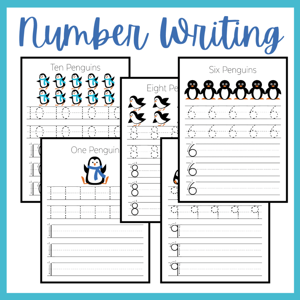 Penguin Counting Worksheets