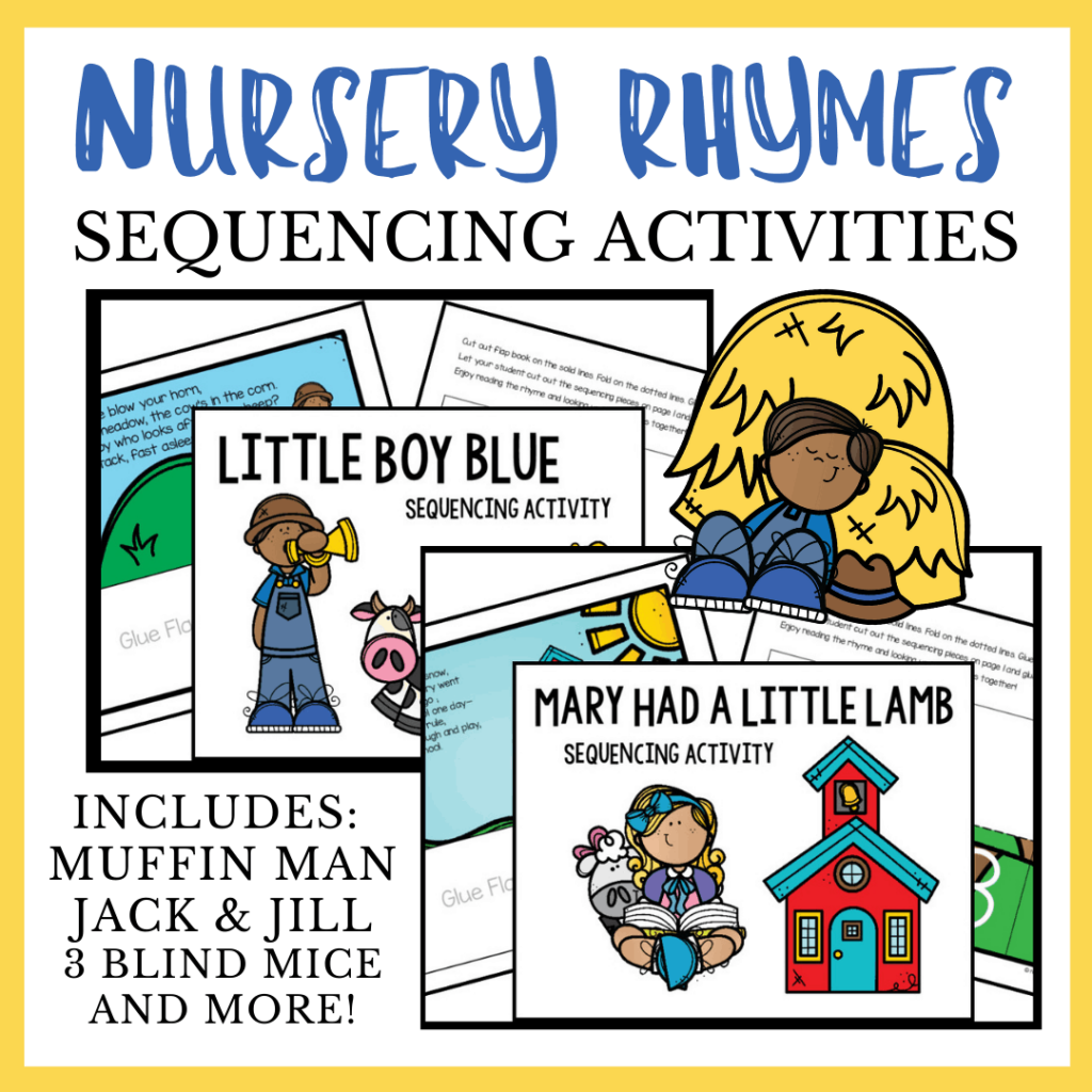 Nursery Rhyme Sequencing for Kids