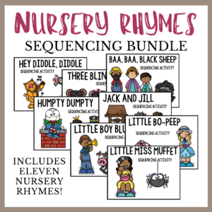 Nursery Rhyme Sequencing Bundle