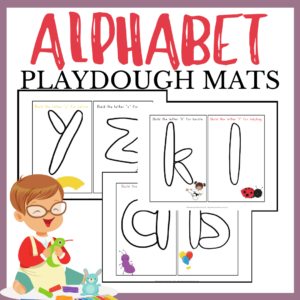 Play Dough Alphabet Mats Busy Bag