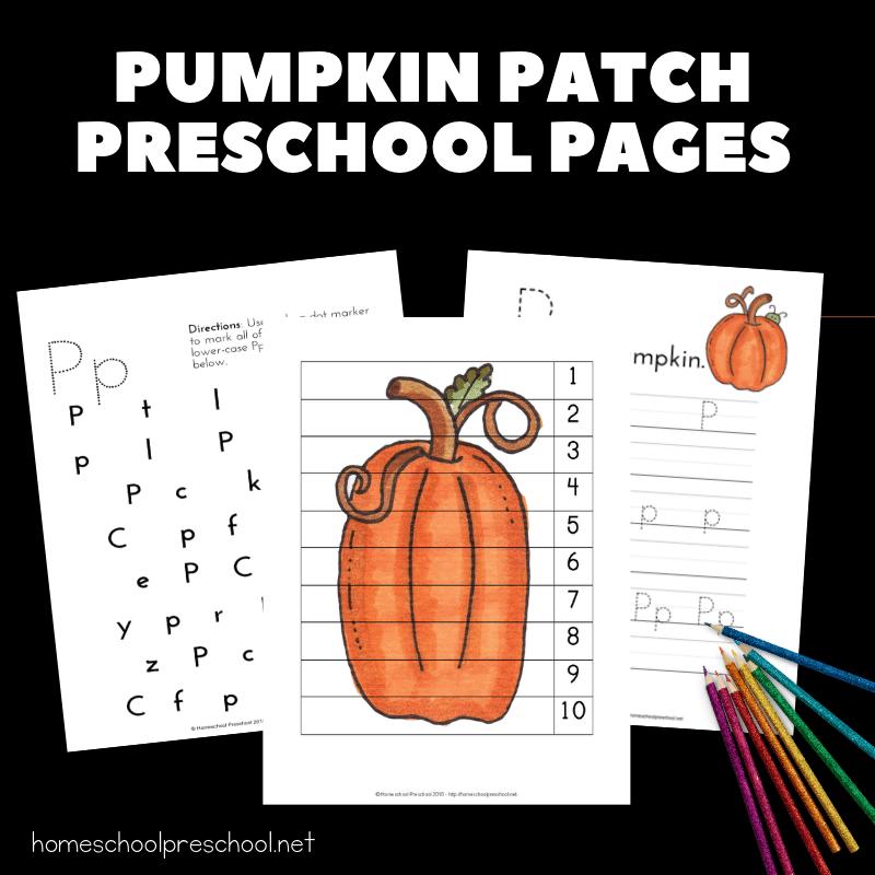 Preschool Pumpkin Activities