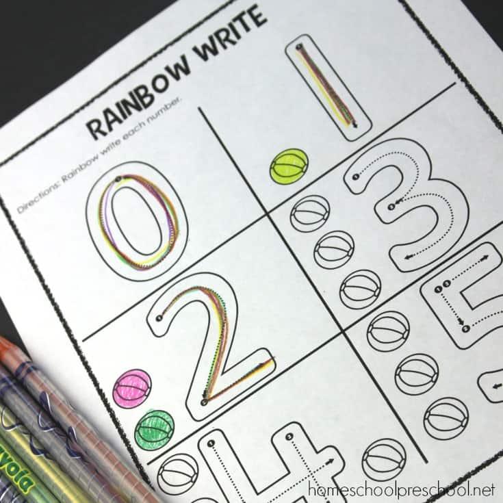 Preschool Number Worksheets 0-5