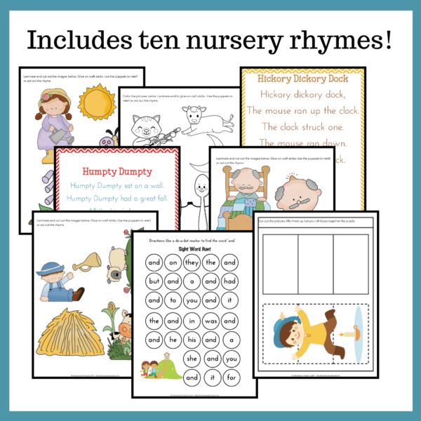 Printable Nursery Rhyme Activities