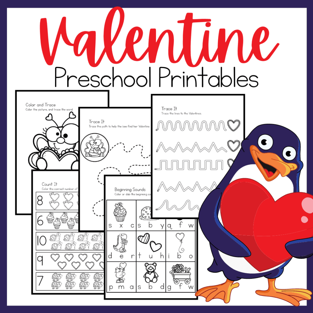 No Prep Valentine Printables Sale