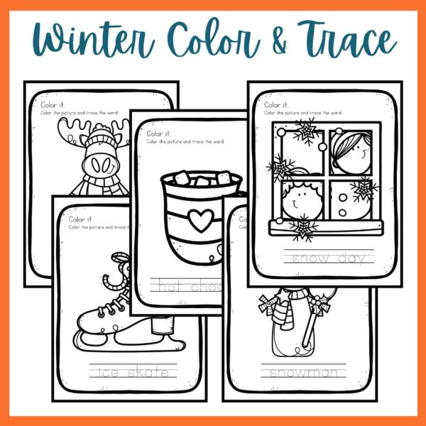 Winter Preschool Printables Sale